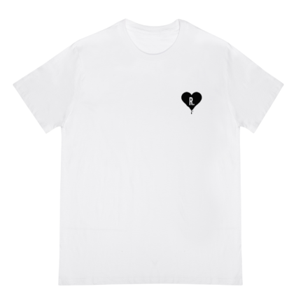 t-shirt wit dripping heart